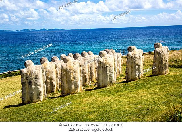 Memorial of L'anse Cafard, in Le Diamant, Martinique. This memorial is a Monument built to commemorating a shipwrecked that had many slaves on the boat...