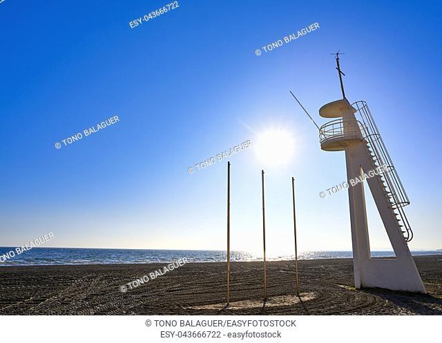 Santa Pola Playa Lisa beach in Alicante of Spain at Costa Blanca