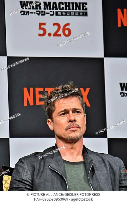 Brad Pitt attends the 'War Machine' press conference at the Ritz-Carlton hotel on May 22, 2017 in Tokyo, Japan. | Verwendung weltweit