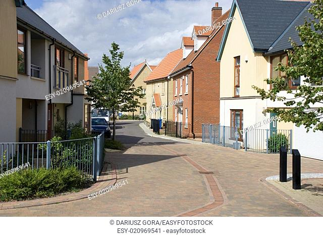 New housing estate, Ravenswood, Ipswich, Suffolk, England