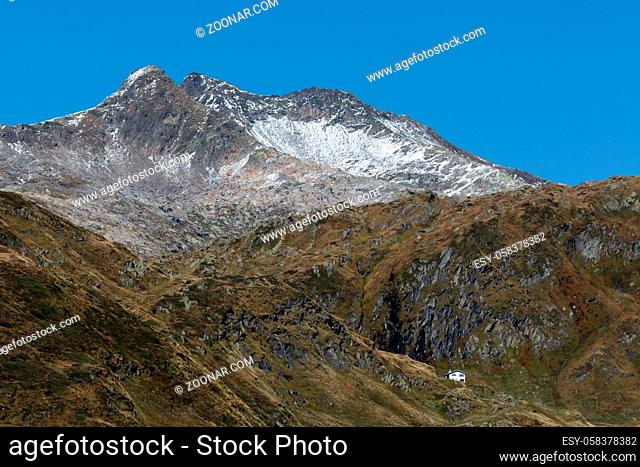 View from the Gotthard Pass in Switzerland