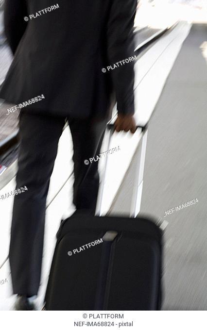 A businessman at a train station Stockholm Sweden