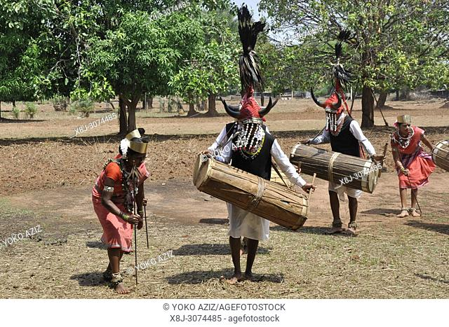 India, Orissa, Chhattisgarh, Muria area, Bison Horn tribe