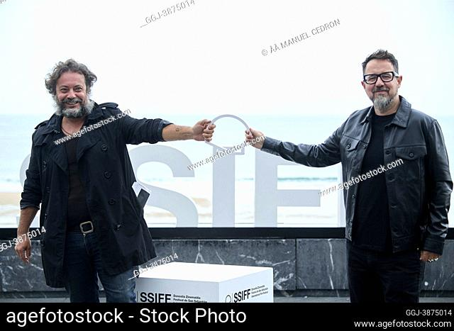 Paco Plaza, Enrique Lopez Lavigne attended 'The grandmother' Photocall during 69th San Sebastian International Film Festival at Kursaal Palace on September 23