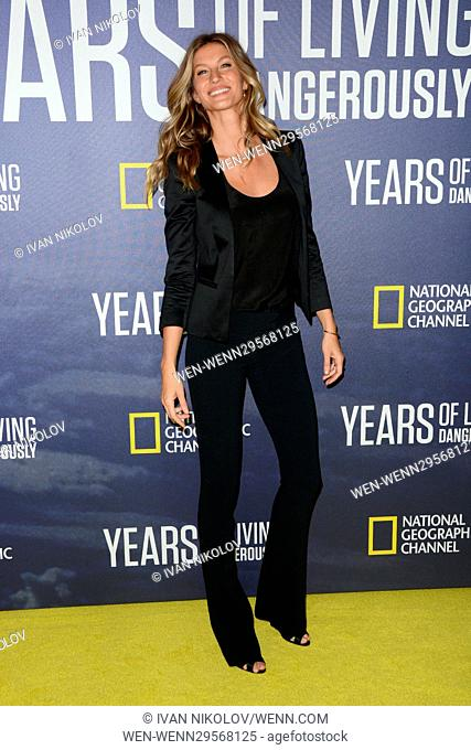 National Geographic's 'Years Of Living Dangerously' New Season World Premiere at The American Museum of Natural History - Red Carpet Arrivals Featuring: Gisele...