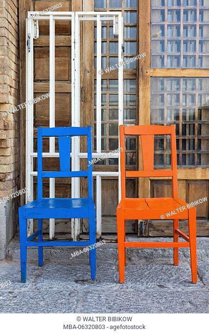 Iran, Central Iran, Esfahan, chairs