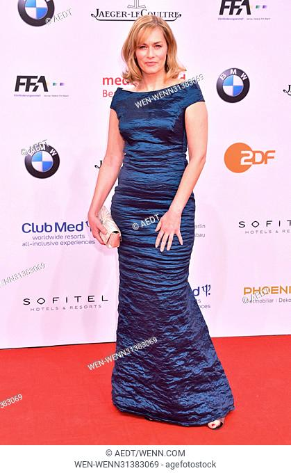 Deutscher Filmpreis (German Film Award) at Palais am Funkturm. Featuring: Gesine Cukrowski Where: Berlin, Germany When: 28 Apr 2017 Credit: AEDT/WENN