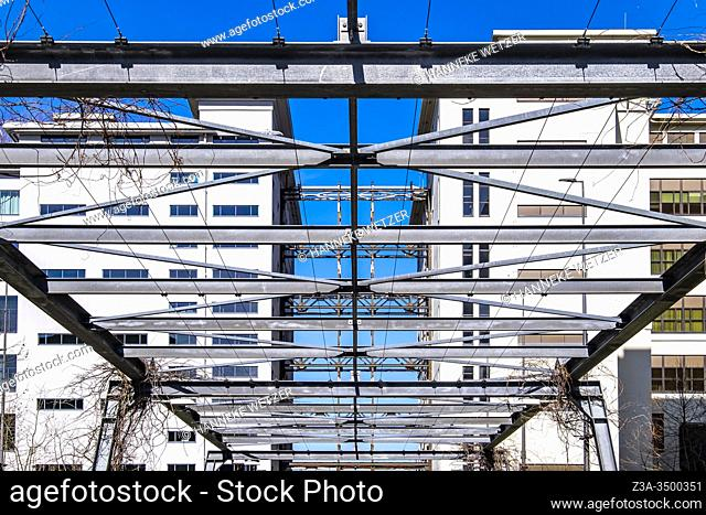 Steel construction at Strijp-S, Eindhoven, The Netherlands, Europe