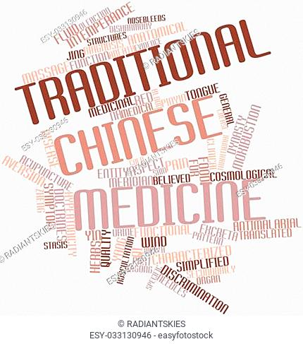 Abstract word cloud for Traditional Chinese medicine with related tags and terms
