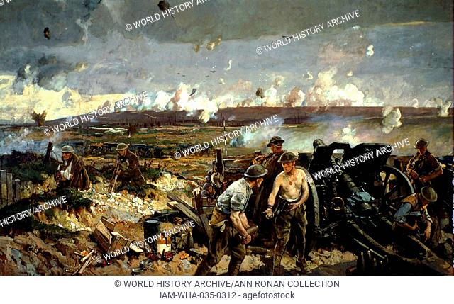 The Taking of Vimy Ridge 1917. Painted Richard Jack the official Canadian war artist