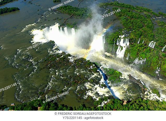 Aerial view of Iguaçu Falls