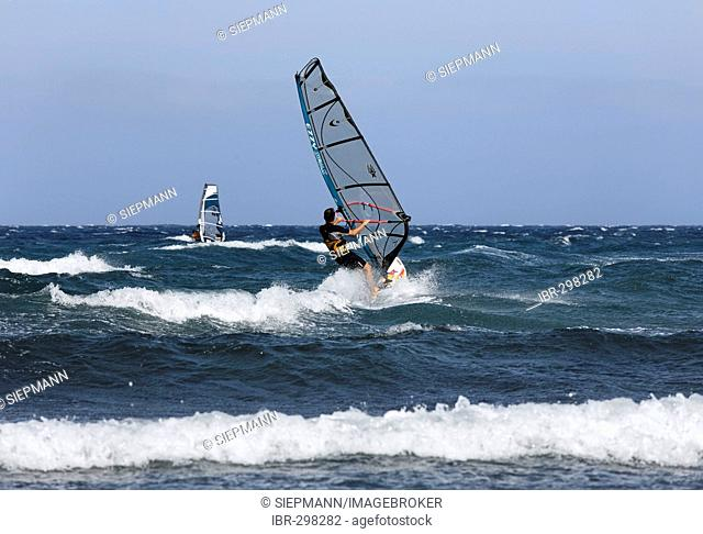 Windsurfer, Pozo Izquierdo, Gran Canaria, Spain