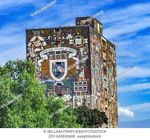 LIbrary Frescos National University Mexico City Mexico Built in 1948