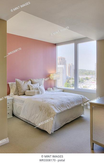Luxury bedroom in highrise apartment