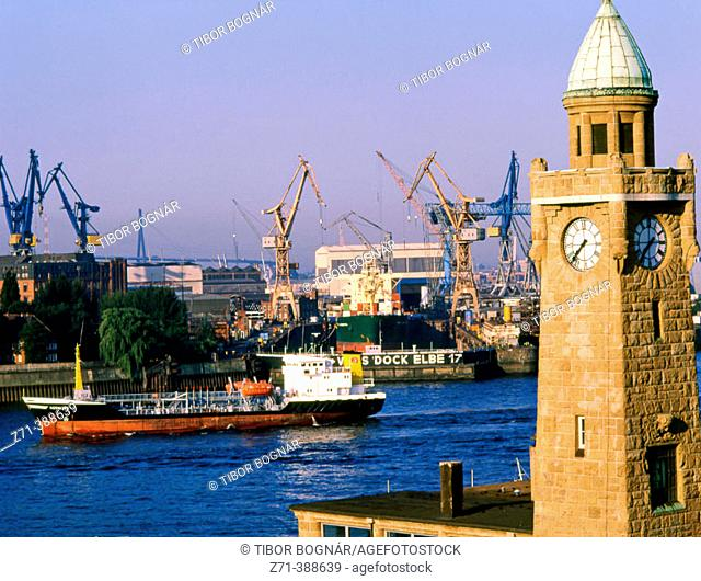 Harbour. St. Pauli. Hamburg. Germany