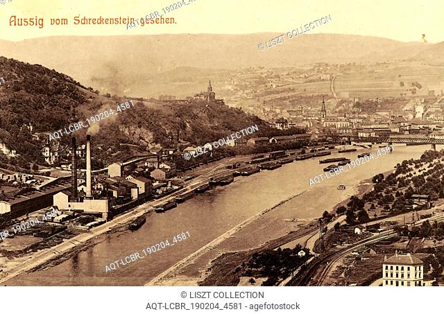 Strekov (castle), Elbe in Ústí nad Labem, Ships of the Czech Republic, Bridges in Ústí nad Labem, Vetruše (restaurant), Churches in Ústí nad Labem, 1903