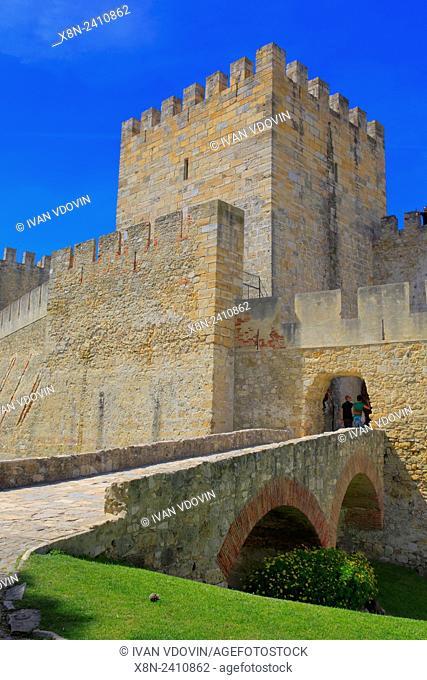 Castle of Sao Jorge (Castelo de Sao Jorge), Lisbon, Portugal
