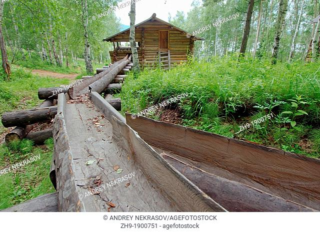 old water-mill, 'Taltsa's' Talzy - Irkutsk architectural and ethnographic museum  Baikal, Siberia, Russian Federation