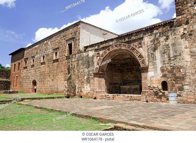 Ex Franciscan Convent of Tzintzuntzan, Michoacan, Morelia, Mexico