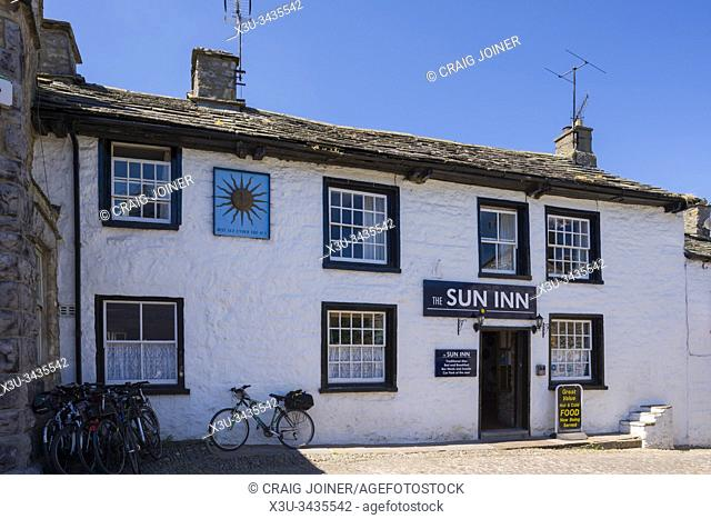 The Sun Inn in the village of Dent in Dentdale in the Yorkshire Dales National Park, Cumbria, England