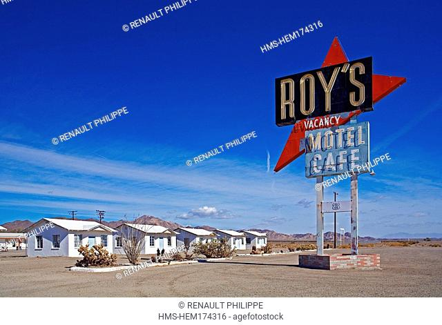 United States, California, Road 66, Amboy, Roy's Cafe, motel and restaurant
