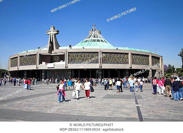 Basilica de Nuestra Senora de Guadalupe, Our Lady of Guadalupe, Mexico City, Mexico Date: 02 04 2008 Ref: ZB362-111809-0024 COMPULSORY CREDIT: World...