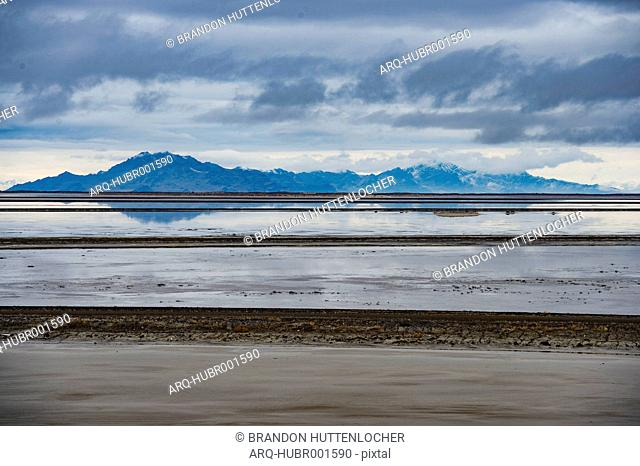 The Great Salt Lake On A Cloudy Afternoon
