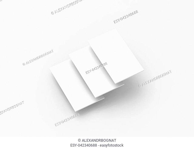 Blank white rectangles for web site design mockup, clipping path, 3d rendering. Phone app interface mock up. Website ui template for browser screen