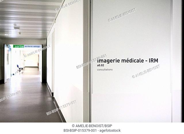 Reportage in a medical imaging service in a hospital in Savoie, France. MRI