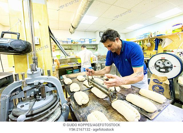 Ulitsa Angel Kanchev, Down Town, Sofia, Bulgaria. John Hulsbosch, an artisan master baker from the Netherlands, set up shop in Sofia