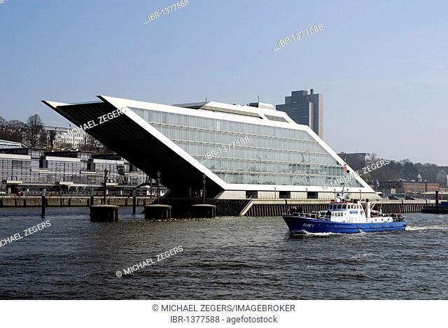 Dockland office building at the Edgar-Engelhard-Kai quay, fishing port, Port of Hamburg, Altona, Elbe river, Hanseatic City of Hamburg, Germany, Europe