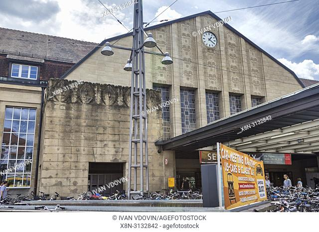 Main Station (1913), Karlsruhe, Baden-Wurttemberg, Germany