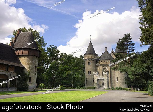 Exterior view of the Zellaer castle in Bonheiden close to the Belgian city Mechelen