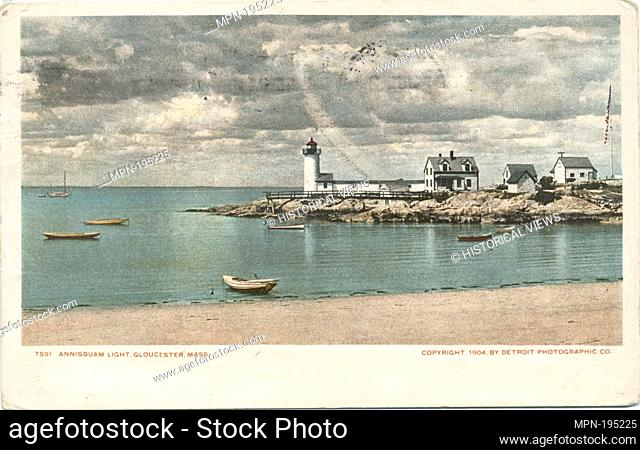 Annisquam Light, Glouchester, Mass. Detroit Publishing Company postcards 7000 Series. Date Issued: 1898 - 1931 Place: Detroit Publisher: Detroit Publishing...