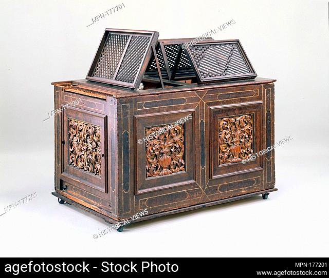 Positive Organ. Date: 17th century; Geography: Germany; Culture: German; Medium: Woods, metal alloys, leather and various materials; Dimensions: L