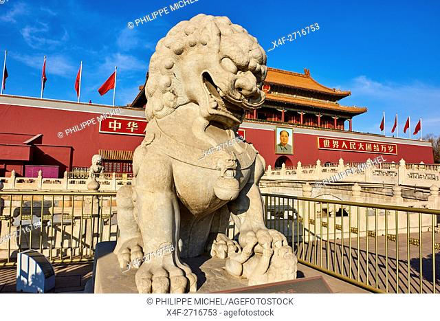 China, Beijing, the Heavenly gate to the Forbidden City, Tiananmen square