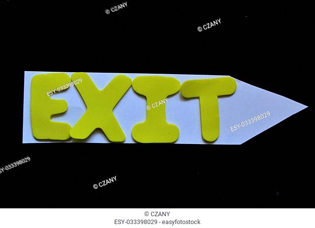 word exit on a black