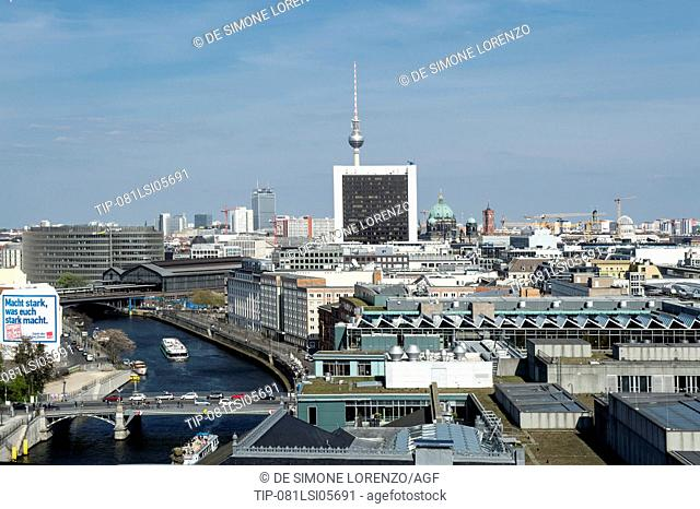 Germany, Berlin, cityscape from Reichstag Dome