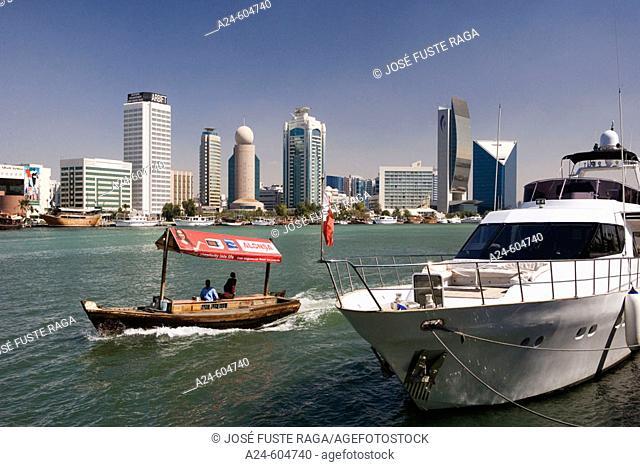 Unites Arab Emirates. Dubai City. Dubai Creek (Khor Dubai )