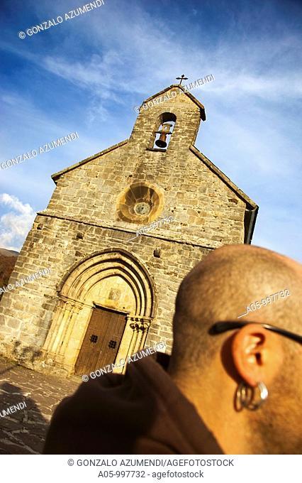 Santiago Church. Roncesvalles Collegiate. Navarra-province. Way to Santiago. Spain