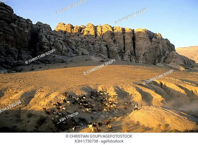 landscape around Petra, Jordan, Middle East, Asia