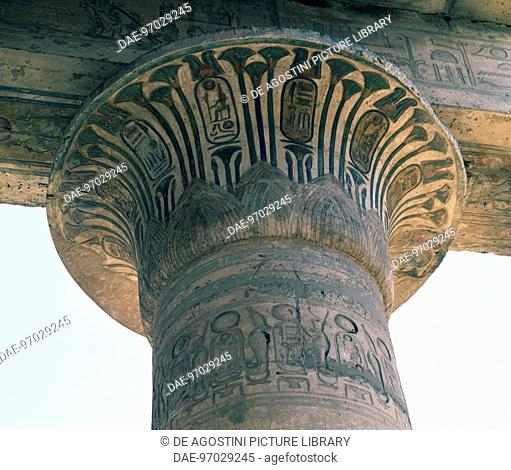 Open papyrus capitals, Great Hypostyle Hall of the Ramesseum, Mortuary Temple of Ramses II, Deir el-Bahri, Thebes (Unesco World Heritage List, 1979)