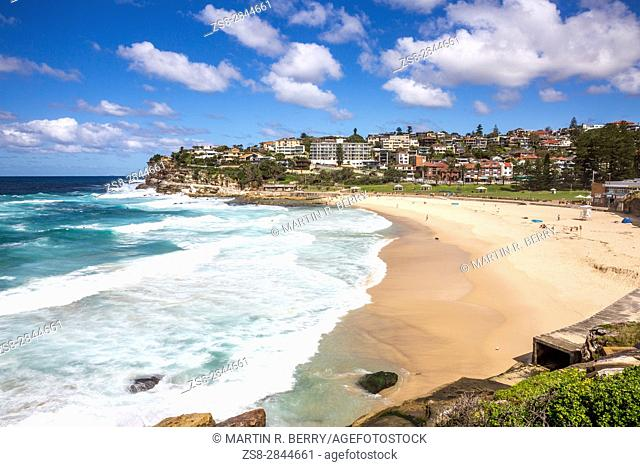 Bronte Beach in the eastern suburbs of Sydney, New south wales, Australia on an Autumn Day