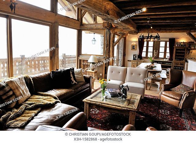 chalet Merlot,Le Miroir Sainte-Foy-Tarentaise,departement de Savoie,region Rhone-Alpes, France,Europe//the luxury Chalet Merlo, Le Miroir Sainte-Foy-Tarentaise