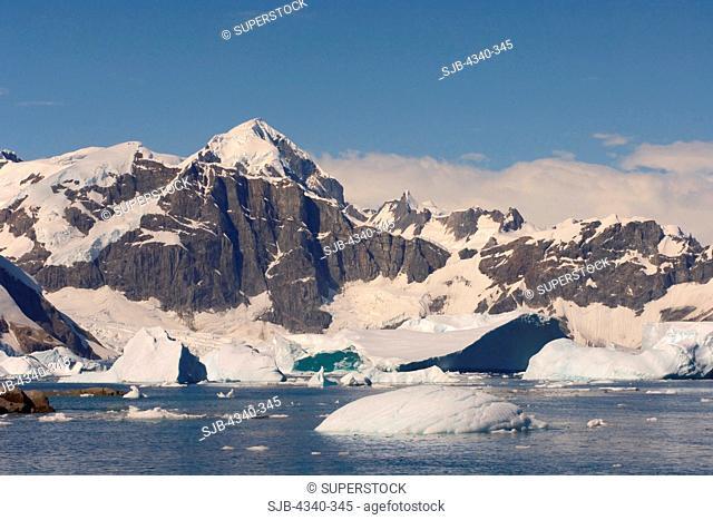 Frozen Glacial Mountain Landscape