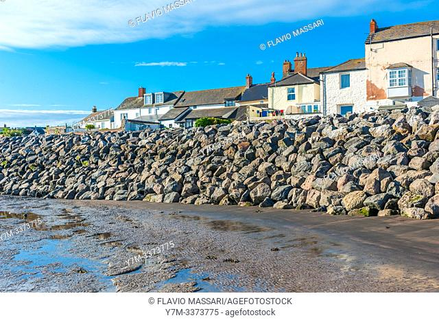 view on Watchet, Somerset, UK from port