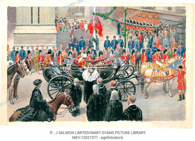 State Entry of King George V into the City of London, London Pageantry by Charles Howard