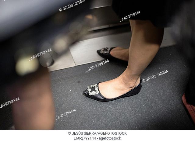 Feet in Hong Kong metro