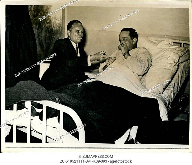 Nov. 11, 1952 - Marshal Tito visits Boris Kidrigh in Hospital..British Medical Expert consulted: Marshal Tito the Yugoslavian Dictator recently paid a visit to...
