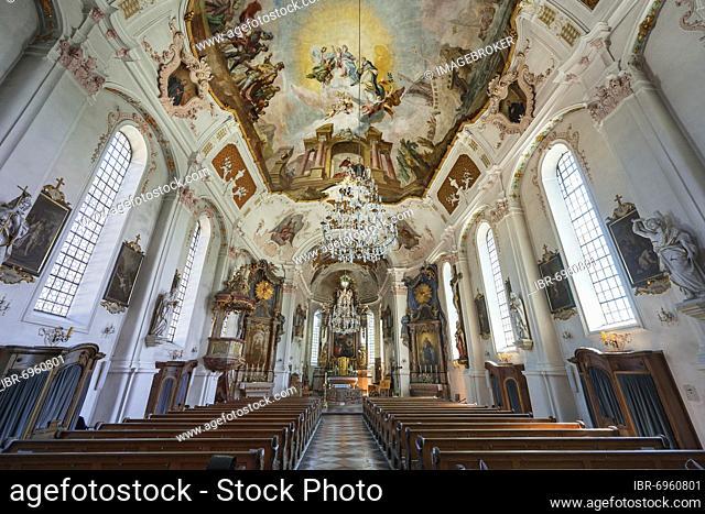 Parish Church of the Assumption of the Virgin Mary, Prien am Chiemsee, Upper Bavaria, Bavaria, Germany, Europe